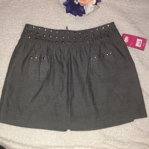 NWT Candie's studded skirt w/pockets